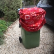 and bin with COVID mask